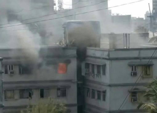 Fire at Andheri Veera Desai Road