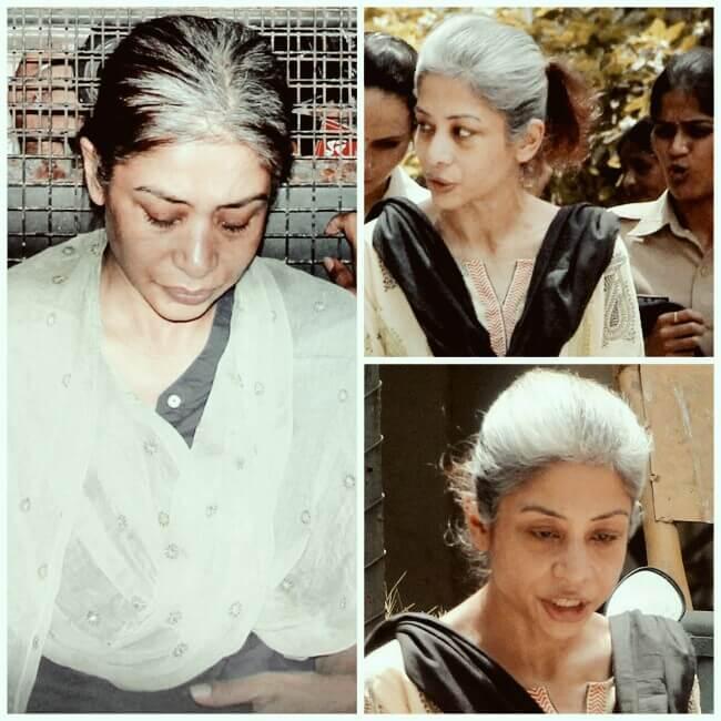 Indrani Mukherjea in Jail,Indrani Mukherjea outside jail, Sad Indrani Mukherjea, Old looking Indrani Mukherjea