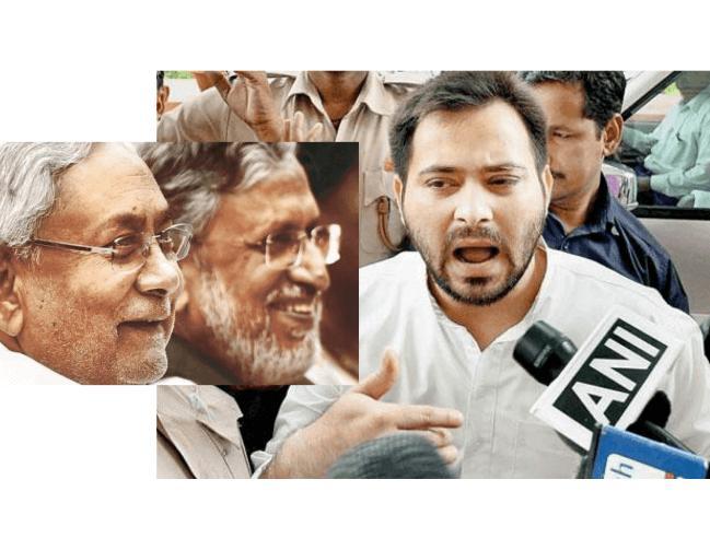 BJP and Nitish Kumar happy, tejashwi react to Nitish BJP alliance, BJP and Nitish alliance affected