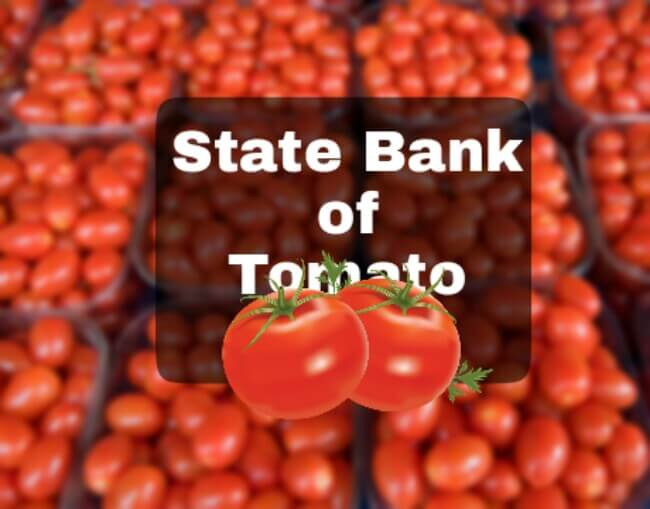 State Bank of Tomato in Lucknow, Lucknow Tomato Bank, State Bank of Tomato in Lucknow, Lucknow's state bank of Lucknow