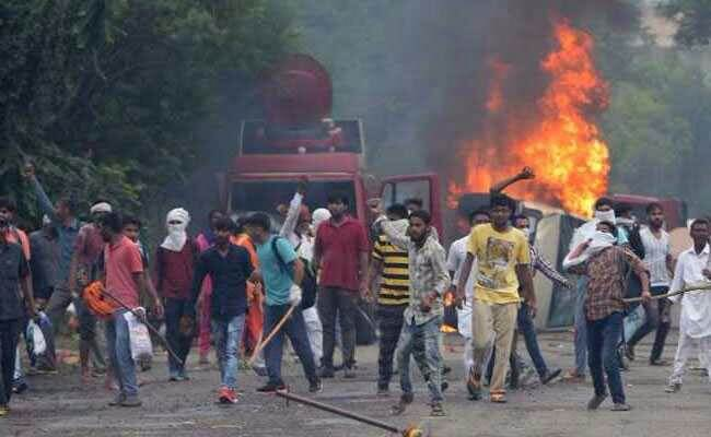 Ram Rahim Singh's Followers Causing Riot like Situation at the Spot