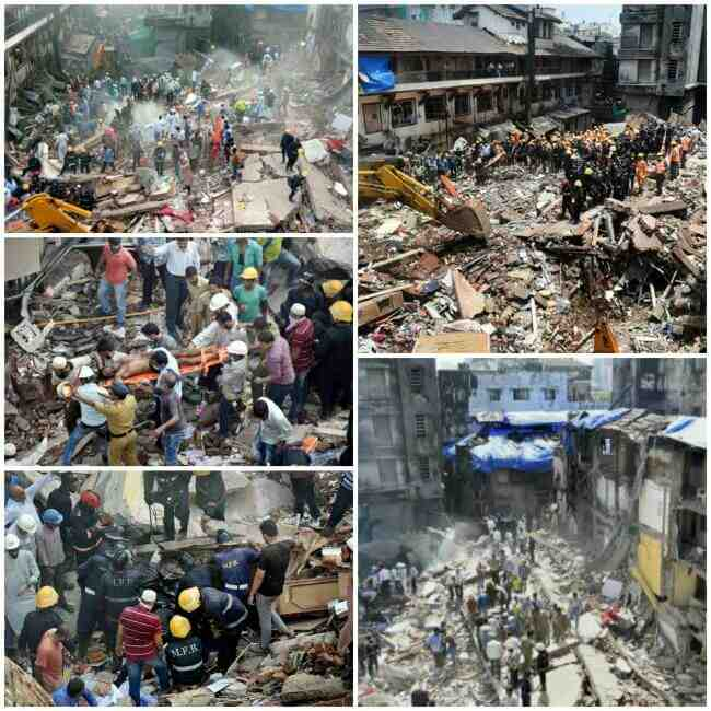 Bhendi Bazaar Building Collapse, Building Mishap in Bhendi Bazaar, Bhendi Bazaar Building Collapse