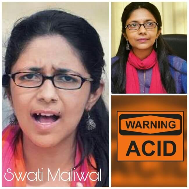 Swati Maliwal against Acid Sale, Acid sale ban by Swati maliwal, Swati Maliwal gets strict against acid sale