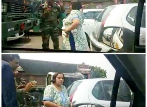 Woman Assaults Indian Army, Indian Army Personnel Assaulted