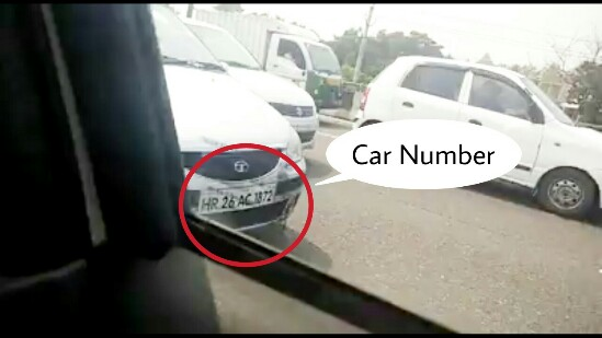 Car Number of the Accused got Captured, WOman attacks Army Jawan