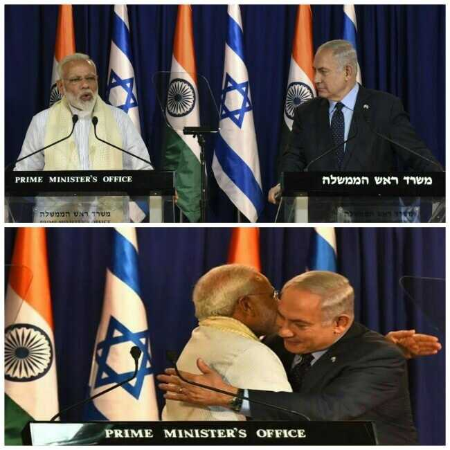 PM Modi and Israel PM in Israel, Israel meeting with PM Modi, PM Modi in Israel, PM Modi and Netanyahu Hugging