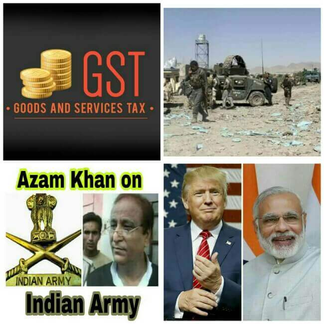 Top 5 News of June 2017, GST Launch, Trump Modi Meet, Azam Khan on Indian Army, Afghanistan Attack