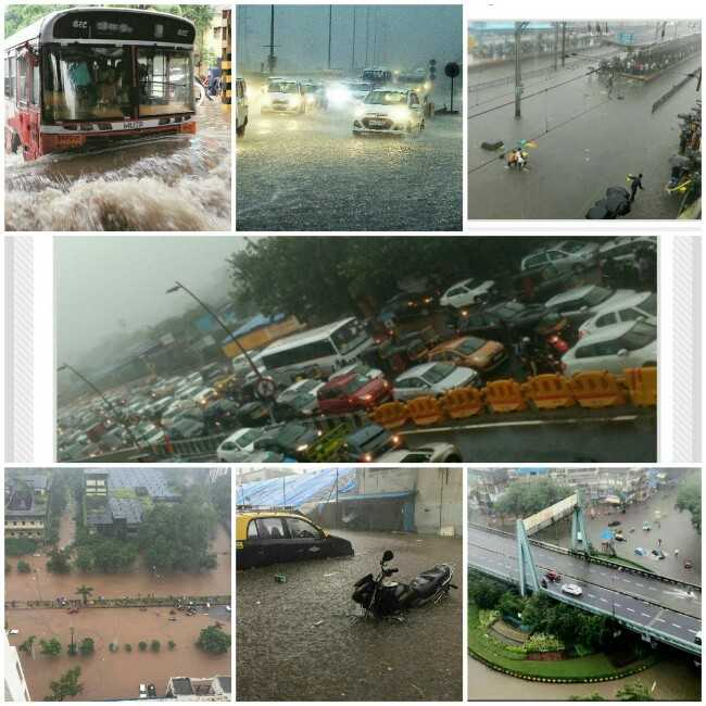 heavy Rainfall in Mumbai, updates of Mumbai after heavy rainfall, heavy rainfall pictures in Mumbai