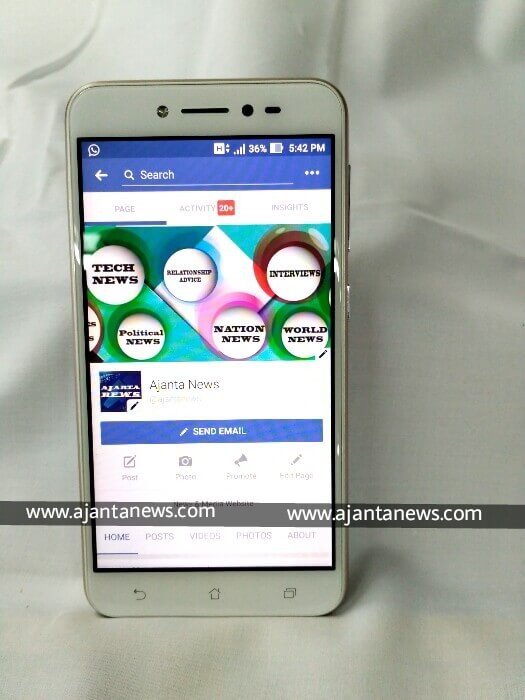 front side of Asus Zenfone Live, front view of Asus Zenfone Live, Asus Zenfone Live front view