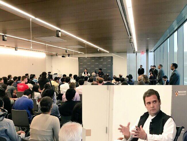 Rahul Gandhi at Princeton University, Rahul speech at Princeton, Prince Speech Rahul Gandhi
