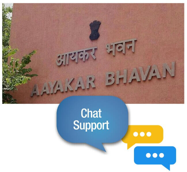 Chat Support by Income Tax Department, IT Department's Chat Support, Tax Payer support chat service