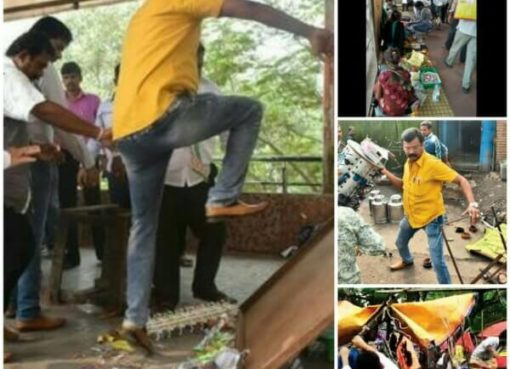 MNS Goons Against Illegal Hawkers Thane, Thane MNS Thrash, MNS Thrash Thane hawkers, MNS Thrash Dombivali Hawkers