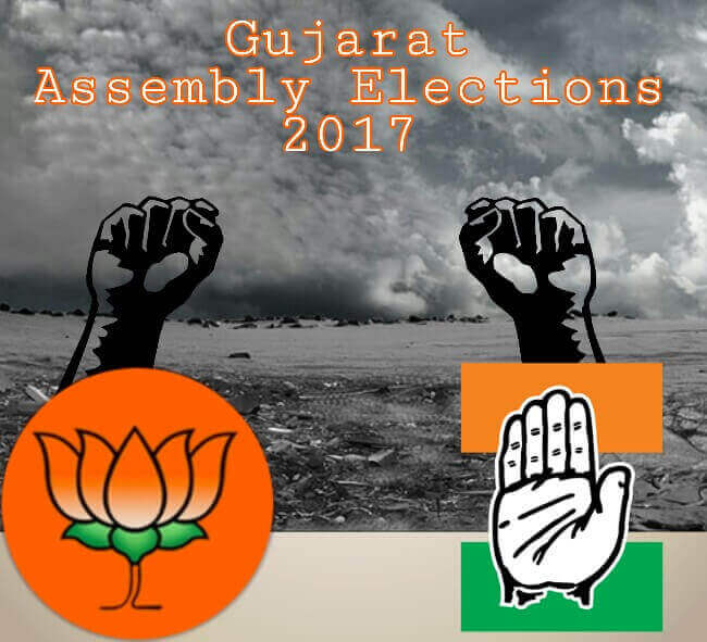 Gujarat Assembly Elections 2017, Gujarat Elections 2017, Elections 2017, BJP vs Congress 2017