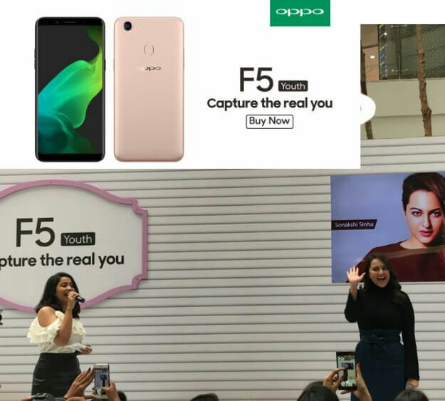 Oppo F5 Youth Launch, Oppo F5 Youth specs, Oppo F5 Youth features, Oppo F5 Youth sonakshi sinha
