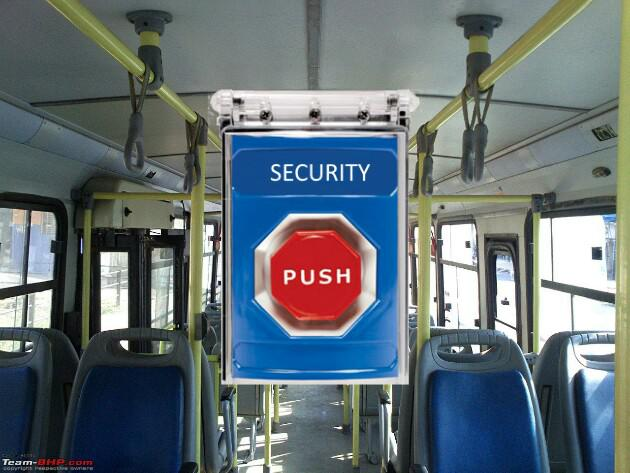 GPS and Panic Button in Public Transport, GPS system in Public transport, panic button in public transport