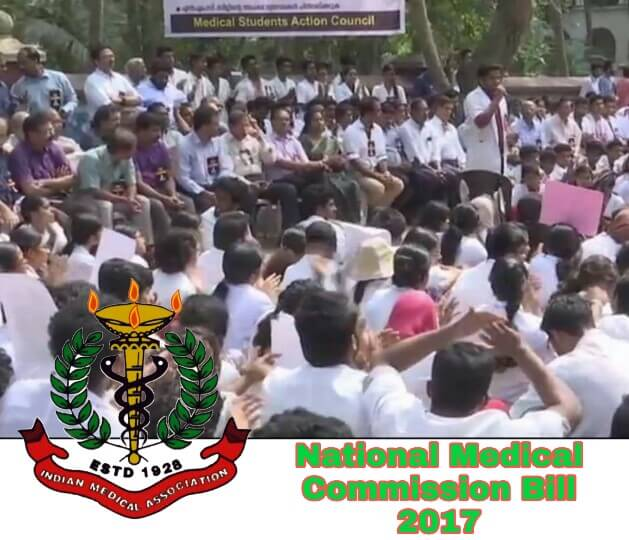 IMA against NMC Bill 2017, NMC Bill 2017 opposed, IMA protest against NMC Bill 2017