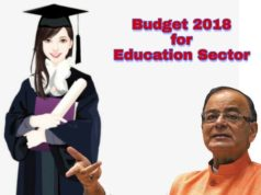 Budget 2018 for Education Sector, Education sector on Budget 2018,