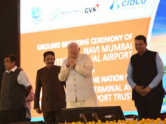 Narendra Modi at NMIA, Navi Mumbai International Airport foundation day, Narendra Modi in Navi Mumbai, Navi Mumbai International Airport Foundation
