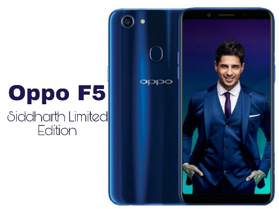 Oppo F5 Siddharth Limited Edition, Oppo F5 Dashing Blue