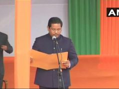 Conrad Sangma Taking Oath for Chief Minister Meghalaya, Meghalaya Chief Minister Oath Taking Ceremony, Chief Minister of Meghalaya, NPP Chief Minister