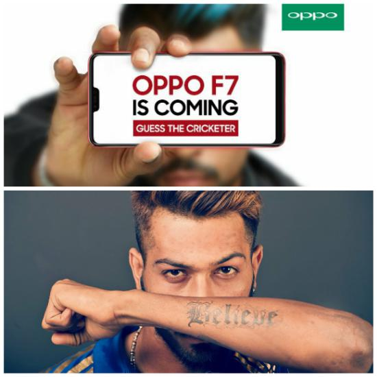 Oppo F7 Launch Hinted, Oppo f7 launch Hardik Pandya, Hardik Pandya Oppo f7, Oppo F7 launch
