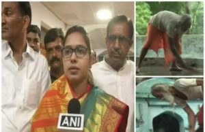 BJP MLA visits Temple, temple purification after BJP MLA visit, woman visits temple purifies