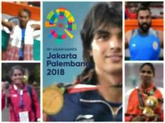 Asian games report card, Indian performance in Asian games 2018, Indian gold medalists Asian games 2018