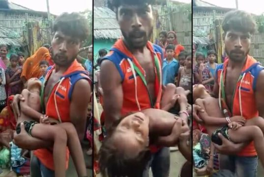Bihar Man loses Daughter, viral video from Bihar, Bihar father talks tough with Narendra Modi