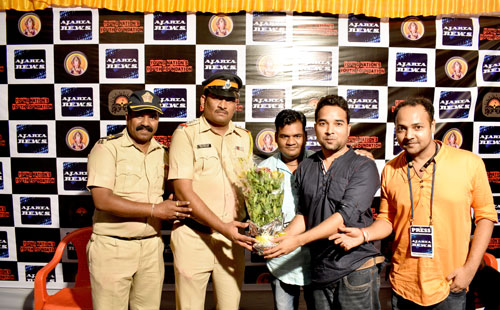 Welcome of Police Officer Mr. Gurav and his Team Member, police gurav powai, powai police gurav
