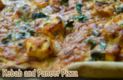 Kebab and Paneer Pizza