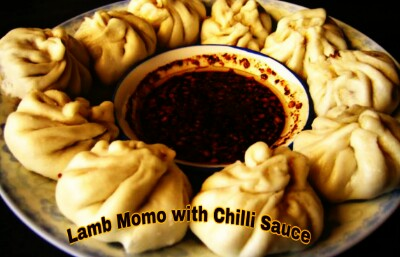 Lamb Momo with Chilli Sauce