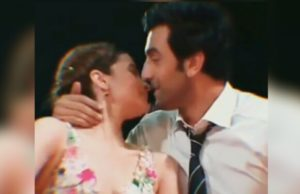 Rabbit Kapoor kisses alia Bhatt, ranbir Singh kisses alia Bhatt at zee cine awards, zee cine awards 2019