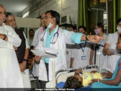 Nitish Kumar failed in encephalitis, Nitish Kumar criticized for handling encephalitis, encephalitis killing Bihar kids