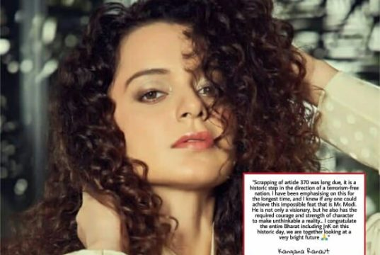Kangana Ranaut react to abolishing of Article 370, Bollywood reaction to abolishing of Article 370, abolishing of Article 35-A