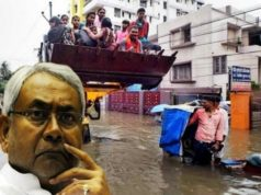 Nitish Kumar attitude over Patna flood, Nitish Kumar Angry on questioning, Nitish Kumar unacceptable behaviour on Patna flood