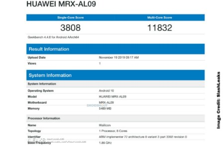 Huawei MRX-AL09 GeekBench, Huawei November leaked news, Huawei upcoming model, Huawei 6gb ram upcoming model