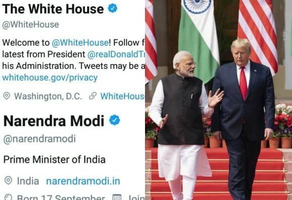The White House unfollowed PM Modi on Twitter, white house unfollow PM MOdi, PM Modi unfollowed by White House