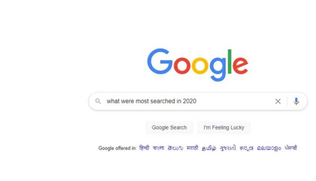 Google-Search-2020, Google Trends 2020