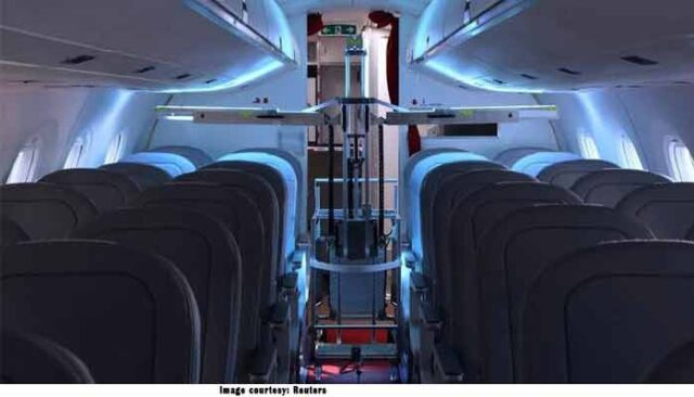 UVeya develops robot to disinfect humans in aircraft